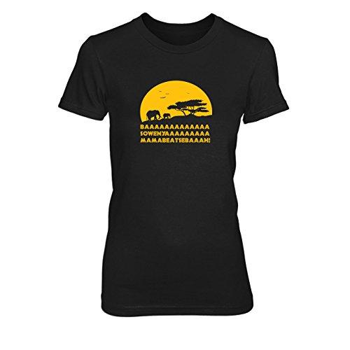 en T-Shirt, Größe: M, Farbe: schwarz (Timon Kostüm König Der Löwen)