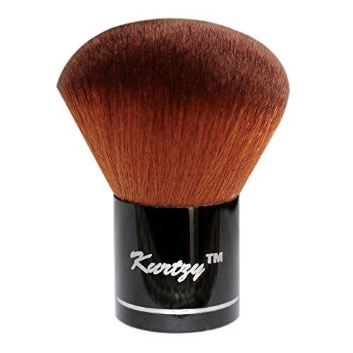 Waschen Kabuki-pinsel (Make-up Kabuki Schminkpinsel - Professioneller Kabuki Pinsel von Kurtzy - Foundation Pinsel - Weicher MineralPuderpinsel - Kosmetische Pinsel Gesicht Powder)