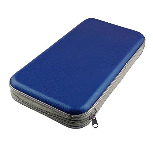 Preisvergleich Produktbild Pingenaneer CD Tasche / DVD-Hüllen Antistatisch und Plastikhüllen für bis zu 80 Cds DVDs und Blu-rays H/B/T ca. 4.8/28,5/15.5cm Blau