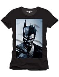 Batman Arkham Face - T-shirt - Imprimé - Col rond - Manches courtes - Homme