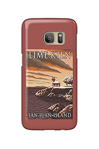 Lime Kiln Lighthouse - San Juan Island, WA Snow Version (Galaxy S7 Cell Phone Case, Slim Barely There)