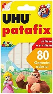 UHU Patafix 41710 - Gomma adesiva removibile, Bianco, confezione da 80 gommini