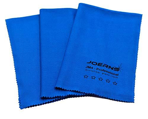 Joerns JM4 Microfaser - Reinigungstuch Grösse ca. 40 x 50 cm, 3 Tücher in Blau. Optimal für Glas und alle glatten Oberflächen