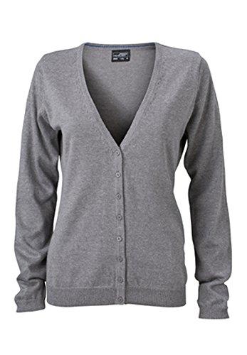 Ladies' V-Neck Cardigan im digatex-package M,grey-heather