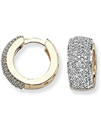 9ct Yellow Gold 0.75ct Diamond Huggie Earrings