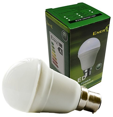 EnergyBrite Dimmable B22 culot à baïonnette 7W LED Céramique A60 ampoule globe Samsung LED, Blanc Chaud