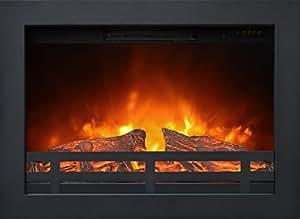 Inserto per camino elettrico Rubifires Flandria Potenza 0-900-1800W con comandi anteriori incassabile in pareti di cartongesso o da abbinare alle cornici Ruby Fires