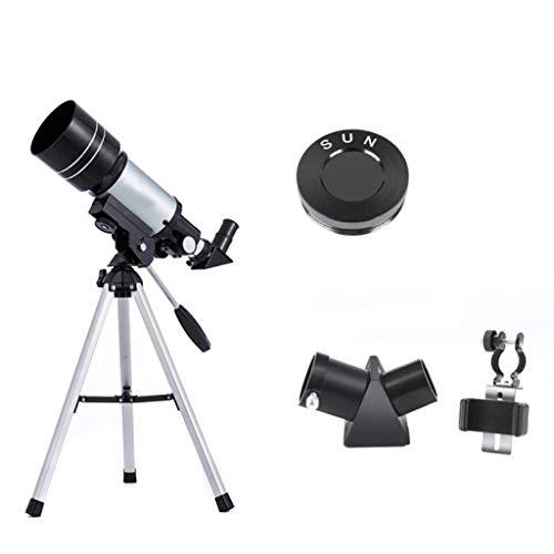 RUIRUI Astronomisches Teleskop, 300mm Brennweite 70mm Aperture Refractor Monocular Telescope 150X Objektiv Mit Stativ for Anfänger Kids Sky Stars Watching