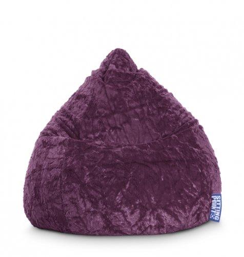 Sitzsack Fluffy L ca. 120 Liter aubergine (bis ca. 7 Jahre)