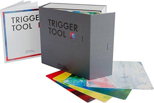 FLOW SYSTEM - Trigger Tool Color - 60 ungegenständliche, farbige Bildkarten für eine neue Art der Kommunikation für Trainings, Workshops, Teams, Seminare, Coaching mit repräsentativer Transportbox und Arbeitsbooklet -