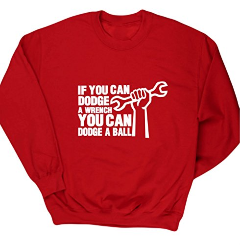 hippowarehouse-if-you-can-dodge-a-wrench-you-can-dodge-a-ball-kids-unisex-jumper-sweatshirt-pullover