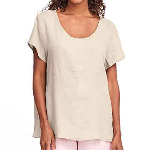 CAOQAO Rundhals Falten T-Shirt Art- Und Weisefrauen-Sommer-BeiläUfige Oansatz Normallack-Kurzschluss-HüLsen-T-Shirt Oberseiten Lose BeiläUfige Weinlese Spitzen