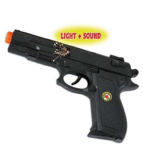 ole Super Shot, mit Licht & Sound, Spielzeugpistole, Kinderspielzeug, Plastik, Rollenspiele, ca. 22 cm Länge ()