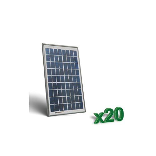 Foto de Peimar - Conjunto de 20 x 10W 12V Placa Solar Panel Fotovoltaico tot. 200W Camper - SET20-10