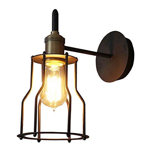 CNBBGJ Amerikanische Spiegel Lampe am Bett europäischen kreativen Retro-modernen Kabinen warme Eisen Treppe Wandleuchte