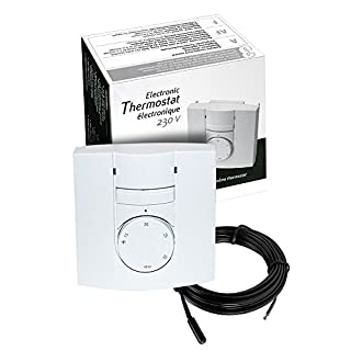 Honeywell Aube Manual/Analog Thermostat with Room and Floor Sensor TH131