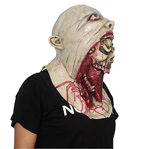 Halloween Rotten Mund Horror Kopf Sets Bloody Requisiten Latex Maske , x14001a (Im Freien Hängende Laterne Fertig)