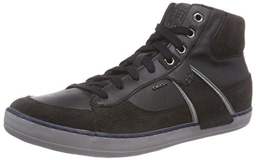 Geox U BOX B, Herren Hohe Sneakers, Schwarz (C6524MUD/BLACK), 43 EU