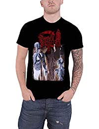 Death T Shirt Human Album Cover Skeleton Band Logo Official Mens Black
