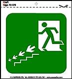 Salute e sicurezza segni simboli adesivi igienica CCTV WiFi di emergenza attenzione 10 cm x 10 cm: uscita antincendio