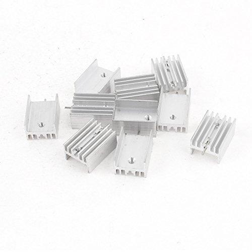 sourcingmapr-10-pieces-21x15x10mm-aluminium-dissipateur-de-chaleur-pour-to-220-mosfet-transistors