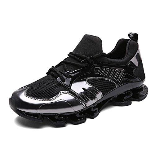 Herren Sportschuhe Das neue Atmungsaktiv Erhöht Ausbildung Laufschuhe Silver