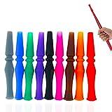 Set di 10 Pezzi, 95 MM Shisha Narghilè Tubo Bocchini/Bocca Silicone, Boccagli Riutilizzabile Lavabile, per Hookah Pipa Braciere Fumo Carbone Accessori - Colore Misto