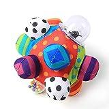 TRULIL Rasselball niedliches Plüsch-Handrasseln Glocke Training Greasping Fähigkeit Spielzeug Baby Jungen Mädchen Ring Spielzeug Früherziehung 0-1 Jahre alt Baby Shaker Handglocken Kinder Geschenk