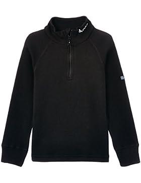 Odlo Originals Warm - Camiseta térmica para niña o niño (manga larga, cuello alto, con cremallera) negro negro...