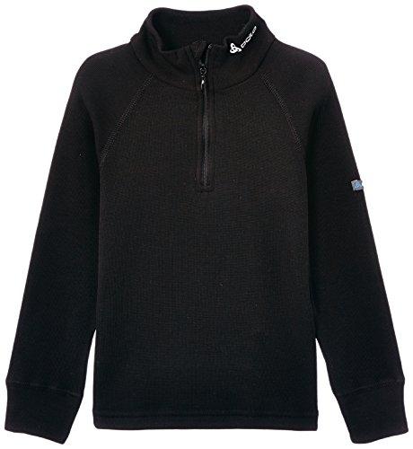 Turtle Fur Kinder Fleece (Odlo Kinder Shirt L/S Turtle Neck 1/2 Zip Warm Unterhemden Lg.Arm, Schwarz (Black), Gr. 140)