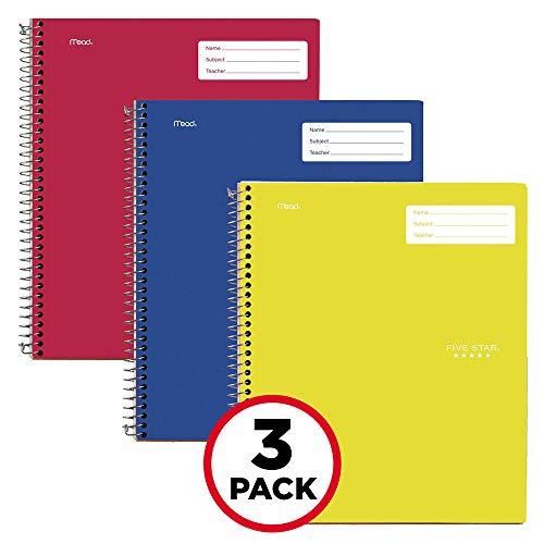 Five Star Interaktives Notizbuch, 1 Thema, College, liniert, 100 Blatt, 28 x 21 cm Pack of 3 13 Primary (Notebook Spirale Kleine)