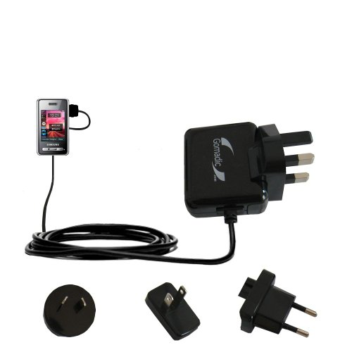 10W Gomadic Steckdosen-Ladegerät AC kompatibel mit Samsung SGH-D980 DUOS mit Energiesparmodus und TipExchange