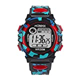 HoganeyVan Kids Child Boy Girl Multifunction Waterproof Sports Electronic 24.6cm Watch Watches