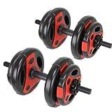 Ness Pro Hantel-Set, Fitnesstraining, 20 kg, Hantelscheiben, Hantelscheiben, Trainingsgewichte