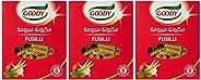 Goody Pasta Fusilli Shape No.36, 3 x 500 gm