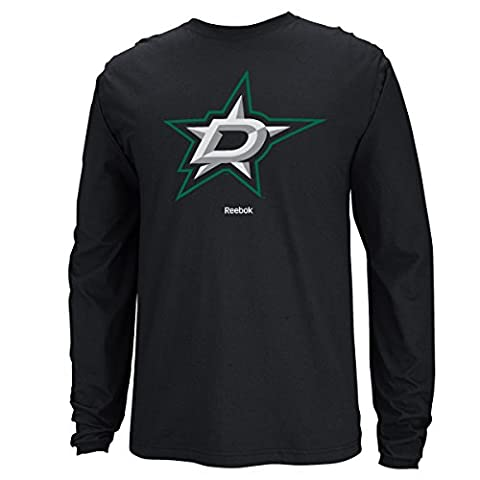 Dallas Stars Reebok NHL Jersey Maillot Crest Long Sleeve Men's