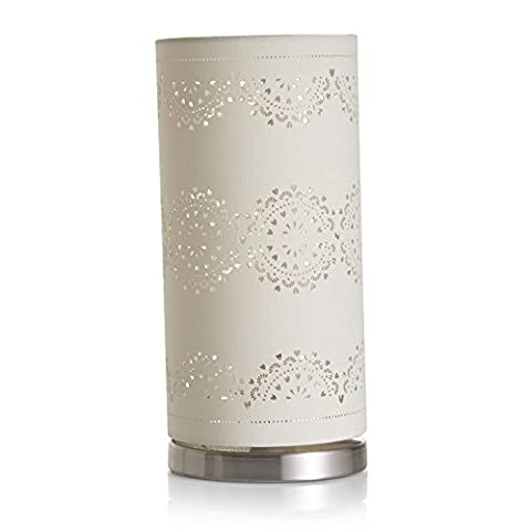 Luxury Laser Cut Pattern Table Lamp with Poly Shade