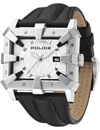 Police PL.13400JS-04 - Reloj analógico de cuarzo para hombre con correa de piel, color negro