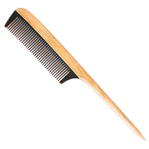 breezelike-wooden-hair-comb-no-static-natural-detangler-sandalwood-horn-comb-handmade-fine-tooth-tea
