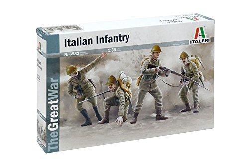 Italeri 6532 - wwi : italian infantry 1915 modellismo model kit scala 1:35