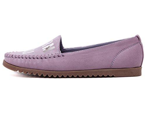 Fortunings JDS Casual Platform Shoes Letter Soft-soled Spangled Violet
