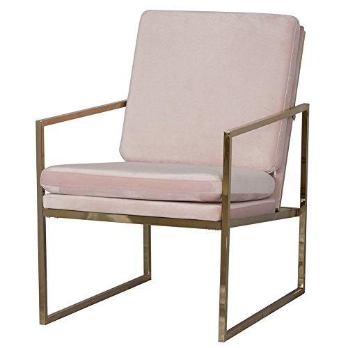 Mr.do® Samt Sessel Stuhl Rosa Lounge Sessel Modern, Kupfer Blick Messing  Plattiert Gold Finish Stahl / Metall Rahmen, 1 Sitz Luxus Sofa Für  Wohnzimmer ...