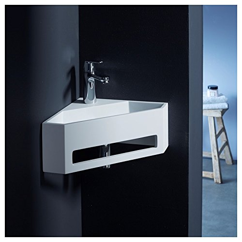 PlaneteBain Lave Mains d'angle Scala pour WC en Solid Surface