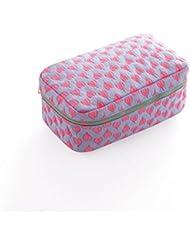 acb52112f569c Frcolor Kosmetiktasche Make up Tasche Reise Waschbeutel Reißverschluss  Damen (Rosa und ...
