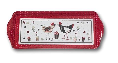 Cooksmart Chicken Design Small Melamine Tray