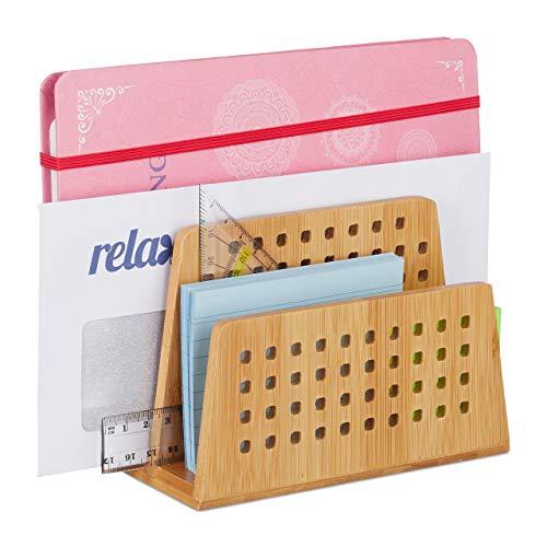 Schreibtischorganizer Briefhalter Briefständer Briefablage Postablage  mit 3