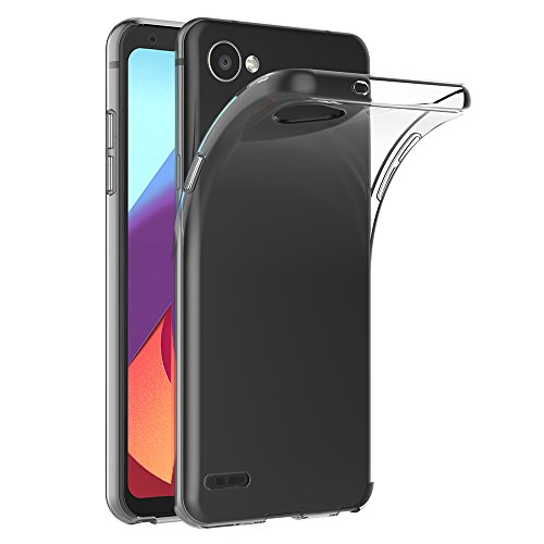 AICEK LG Q6 Hülle, Transparent Silikon Schutzhülle für LG Q6 Case Clear Durchsichtige TPU Bumper LG Q6 Handyhülle (5,5 Zoll)