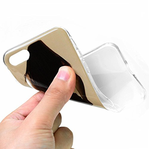 SMART LEGEND iPhone 7 Weiche Silikon Hülle Bumper Schutzhülle Transparent Rahmen Hülle mit Cool Löwe Muster Handyhülle Crystal Kirstall Clear Etui Ultra Slim Design Glatt Durchsichtig Weich TPU Handy  Mädchen