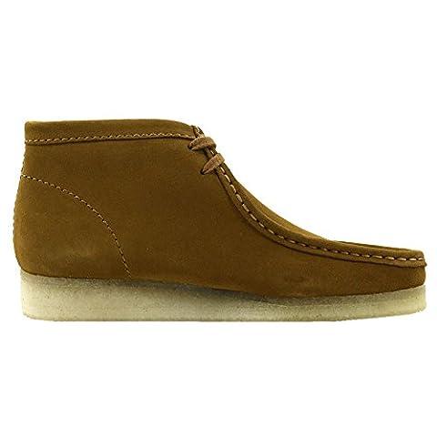 Clarks Men's Originals Moccasin Boots Wallabee Boot Bronze Leather