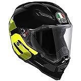 AGV Casco Moto Ax-8 Evo Naked E2205 Top, Identity Black/Yellow, L
